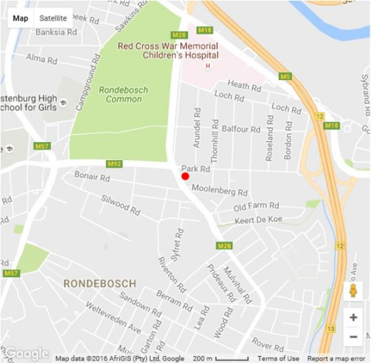 Map The Moolenberg in Rondebosch  Southern Suburbs (CPT)  Cape Town  Western Cape  South Africa