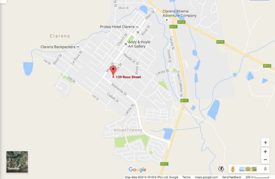 Map Mt Horeb Manor in Clarens  Thabo Mofutsanyana  Free State  South Africa