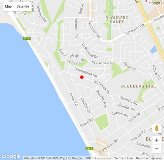 Map The Cape Amethyst Guest House in Bloubergstrand  Blaauwberg  Cape Town  Western Cape  South Africa