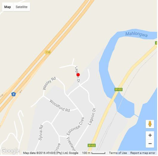 Map Gee Wizz B & B in Scottburgh  South Coast (KZN)  KwaZulu Natal  South Africa