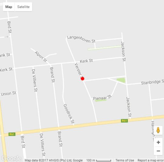 Map  La Paix Guest House in Beaufort West  Karoo  Western Cape  South Africa