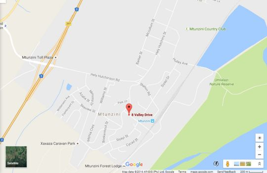 Map Hunters B&B in Mtunzini  North Coast (KZN)  KwaZulu Natal  South Africa