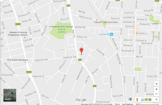 Map Cricklewood Place - Luxury Holiday Home in Claremont  Southern Suburbs (CPT)  Cape Town  Western Cape  South Africa