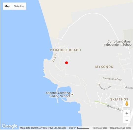 Map ORPHEUS HOUSE in Langebaan  West Coast (WC)  Western Cape  South Africa