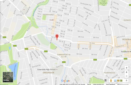Map Little Forest Guest House in Parkhurst  Northcliff/Rosebank  Johannesburg  Gauteng  South Africa