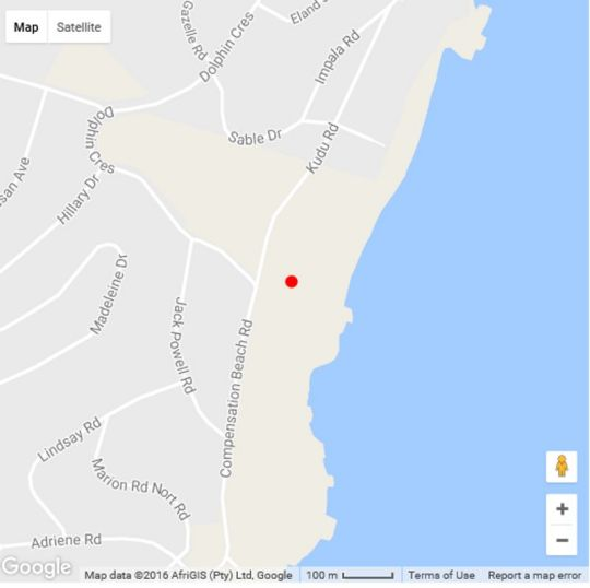 Map Ocean View Penthouse in Ballito  North Coast (KZN)  KwaZulu Natal  South Africa