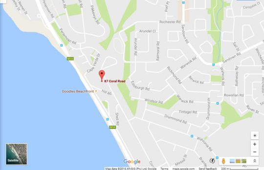 Map Infinite Ocean View in Bloubergstrand  Blaauwberg  Cape Town  Western Cape  South Africa