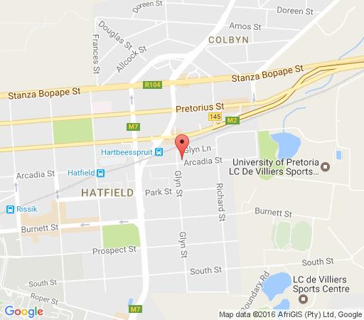 Map The Village In Hatfield in Hatfield  Pretoria Central  Pretoria / Tshwane  Gauteng  South Africa