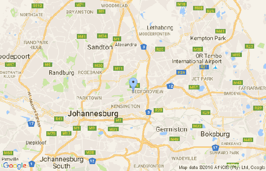 Map Bruma Holiday Home in Bruma  Alexandra  Johannesburg  Gauteng  South Africa