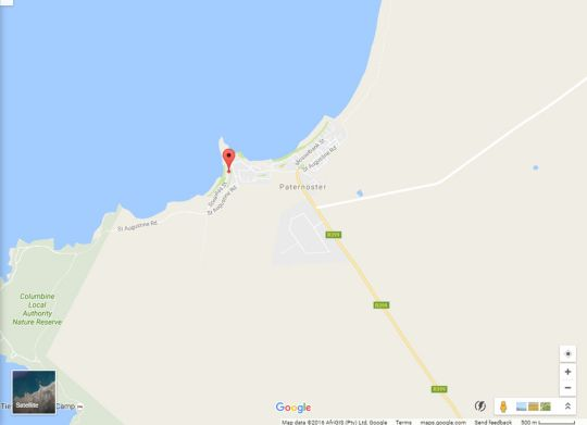 Map Stay At Emily In Paternoster in Paternoster  West Coast (WC)  Western Cape  South Africa