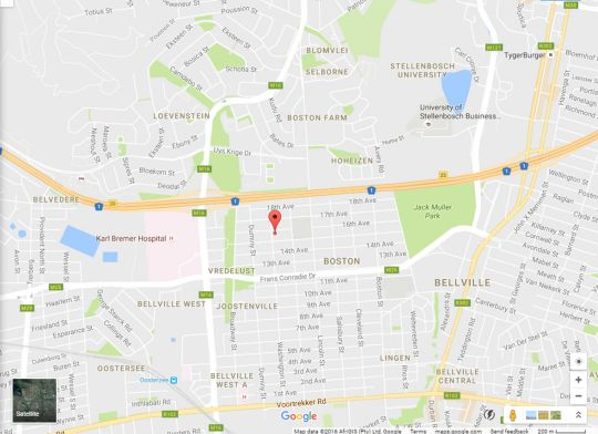 Map Markotter Place in Bellville  Northern Suburbs (CPT)  Cape Town  Western Cape  South Africa