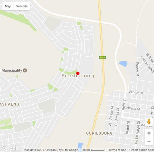 Map Oranje Gasteplaas in Fouriesburg  Thabo Mofutsanyana  Free State  South Africa