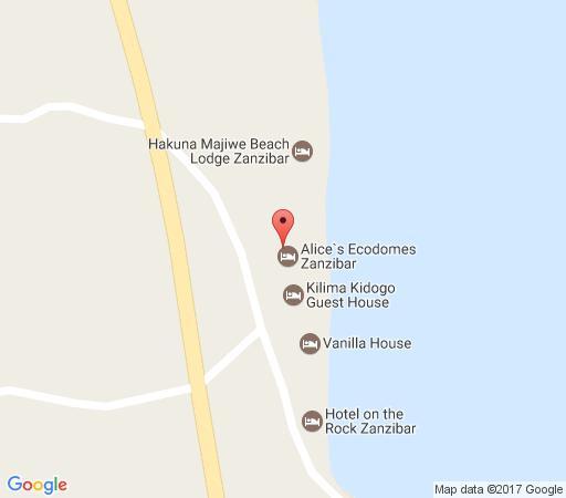 Map Kilima Kidogo Guesthouse in Paje  Zanzibar  Tanzania