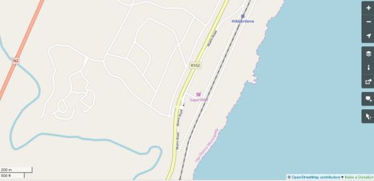 Map Rockview 43 in Hibberdene  South Coast (KZN)  KwaZulu Natal  South Africa