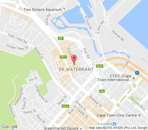 Map 1105 Quayside in De Waterkant  City Bowl  Cape Town  Western Cape  South Africa