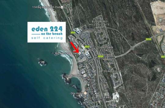 Map Eden on the beach in Bloubergstrand  Blaauwberg  Cape Town  Western Cape  South Africa
