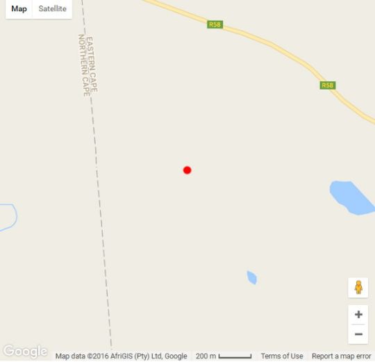 Map Orange Valley Guest Farm in Colesberg  Upper Karoo  Northern Cape  South Africa