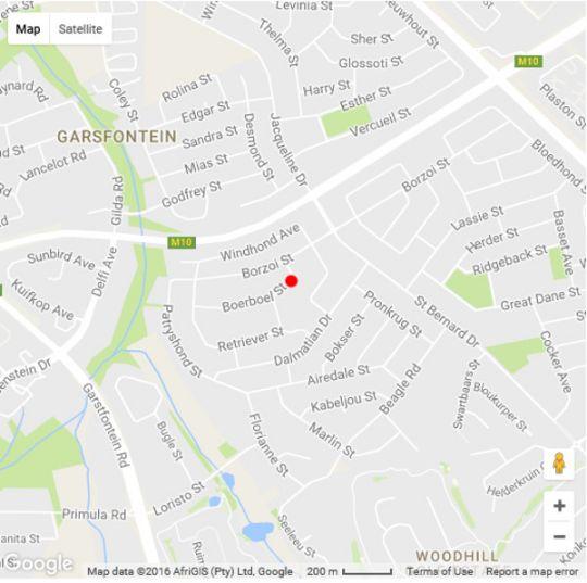 Map The African Penguin in Garsfontein  Pretoria East  Pretoria / Tshwane  Gauteng  South Africa