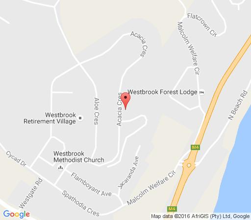Map Acacia Crescent Seaview Manor in Westbrook  North Coast (KZN)  KwaZulu Natal  South Africa
