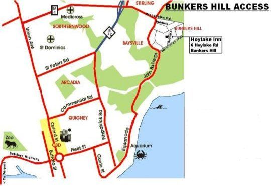 Map Hoylake Inn in Bunkers Hill  East London  Amatole  Eastern Cape  South Africa