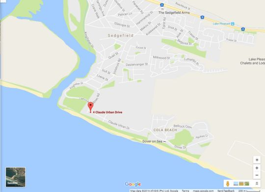 Map The Gull in Sedgefield  Garden Route  Western Cape  South Africa