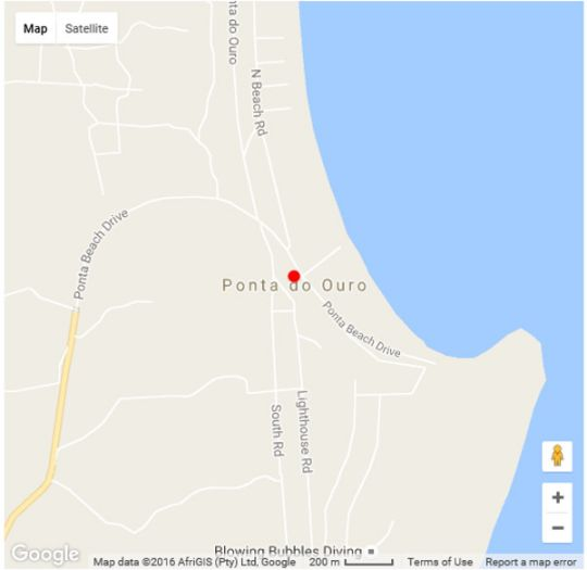 Map Moya Eco Lodge in Ponta d'Ouro  Maputo  Mozambique