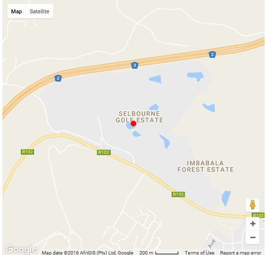 Map Fanlingerers in Pennington  South Coast (KZN)  KwaZulu Natal  South Africa
