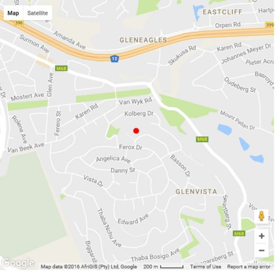 Map Meerkat Manor B&B in Glenvista  Johannesburg South  Johannesburg  Gauteng  South Africa