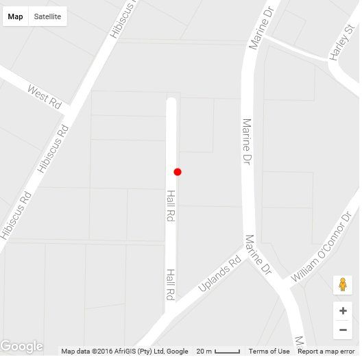 Map Sable Court 5 in Margate  South Coast (KZN)  KwaZulu Natal  South Africa