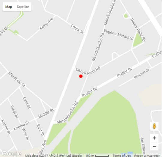 Map Mendelssohn Manor Guest House in Franklin Roosevelt Park  Randburg  Johannesburg  Gauteng  South Africa