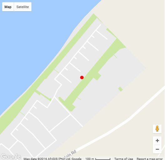 Map Summer Place in Dwarskersbos  West Coast (WC)  Western Cape  South Africa