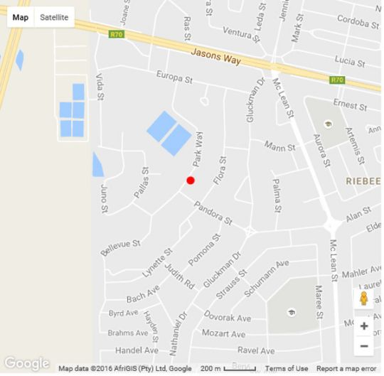 Map Jolani Guest House in Welkom  Lejweleputswa  Free State  South Africa