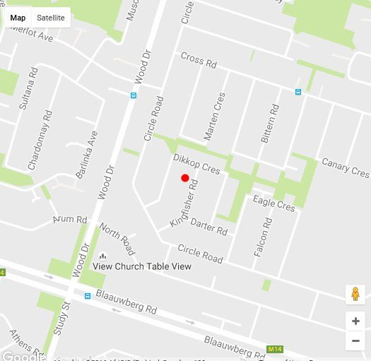 Map 12 Kingfisher in Table View  Blaauwberg  Cape Town  Western Cape  South Africa