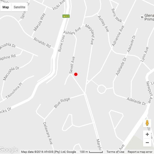 Map Savell Gardens in Durban North  Northern Suburbs (DBN)  Durban and Surrounds  KwaZulu Natal  South Africa
