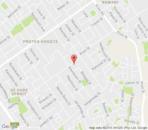 Map Protea Retreat in Brackenfell  Northern Suburbs (CPT)  Cape Town  Western Cape  South Africa