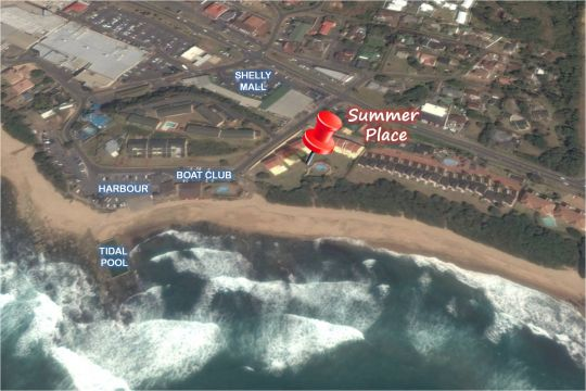 Map Summer Place in Shelly Beach  South Coast (KZN)  KwaZulu Natal  South Africa