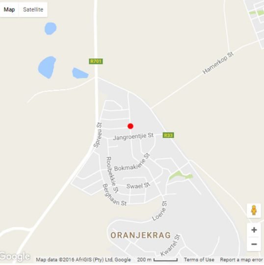 Map DE Lance Chalets + Coffee Shop in Gariep Dam  Xhariep (Southern Free State)  Free State  South Africa