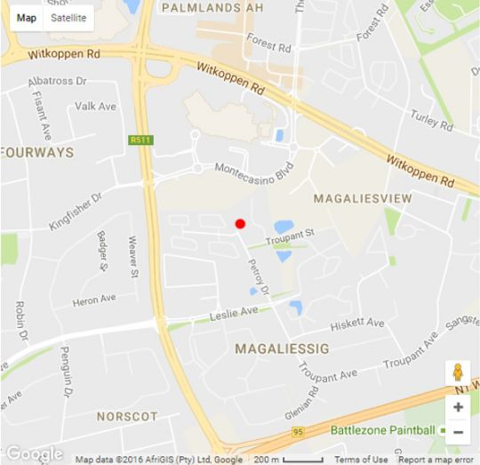 Map MaBella Lodge in Fourways  Sandton  Johannesburg  Gauteng  South Africa