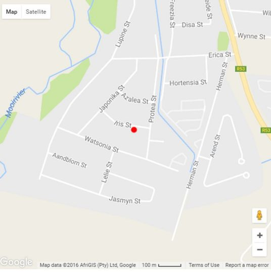 Map Yenfie B&B in Potchefstroom  Southern (NW)  North West  South Africa
