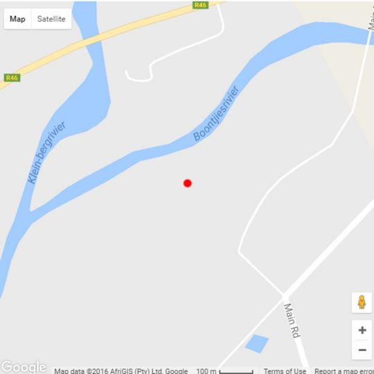 Map Essere Lodge Guest House in Tulbagh  Cape Winelands  Western Cape  South Africa