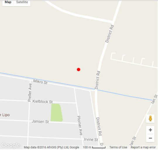Map Matlosana White House in Klerksdorp  Southern (NW)  North West  South Africa