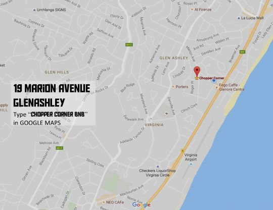 Map Chopper Corner in Glenashley  Northern Suburbs (DBN)  Durban and Surrounds  KwaZulu Natal  South Africa