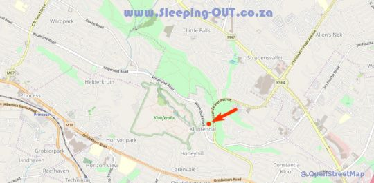 Map Jozistay Kloofside Guest House in Kloof en Dal  Roodepoort  West Rand  Gauteng  South Africa