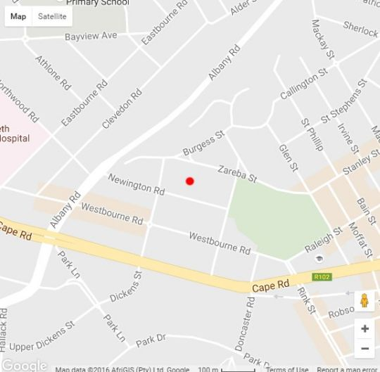 Map Newington Place in Cape St. Francis  Cacadu (Sarah Baartman)  Eastern Cape  South Africa