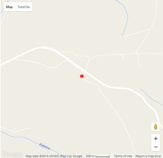 Map Ekukhanyeni Farm House in Bishopstowe  Pietermaritzburg  Midlands  KwaZulu Natal  South Africa