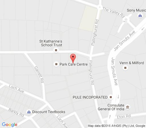 Map Bamboo Cottage in Parktown  Northcliff/Rosebank  Johannesburg  Gauteng  South Africa