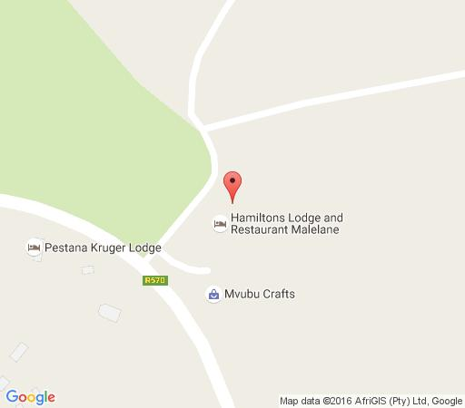 Map Hamiltons Lodge in Malelane  Kruger National Park (MP)  Mpumalanga  South Africa
