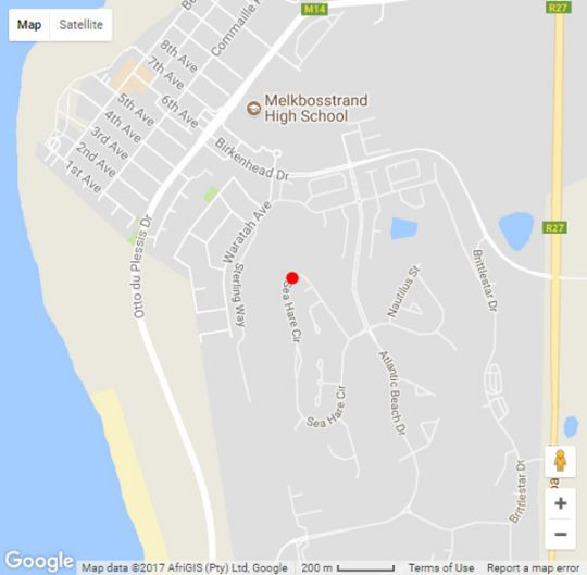 Map Melkbosstrand Apartment in Melkbosstrand  Blaauwberg  Cape Town  Western Cape  South Africa