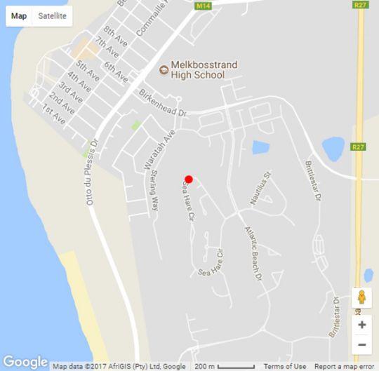 Map Melkbosstrand Apartment in Melkbosstrand  Blaauwberg  Cape Town  Western Cape  South Africa