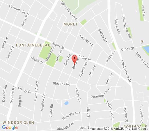 Map Johannesburg International Student House Share in Fontainebleau  Randburg  Johannesburg  Gauteng  South Africa